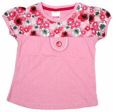 Short Sleeve Crew Neck Floral 100% Cotton Girls' T-Shirts & Tops (2-16 Years)