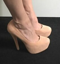 Topshop Patternless Court Suede Upper Heels for Women