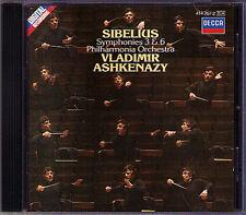 Vladimir ASHKENAZY: SIBELIUS Symphony No.3 & 6 Philharmonia Orchestra DECCA CD