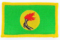 ZAIRE FLAG PATCH PATCHES BADGE IRON ON NEW EMBROIDERED