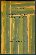 EDUARDO A AZCUY POEMAS PARA LA HORA GRAVE FIRST EDITION  COVER SEOANE