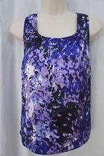 Anne Klein Petite Blouse Sz PXS Purple Multi Color Sleeveless Business Casual