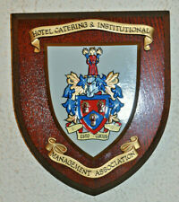 Hotel Catering & Institutional Mangement Association plaque shield coat of arms