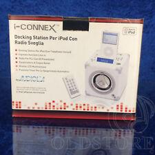 ►AUDIOLA I-CONNEX ◄ DOCKING STATION APPOGGIO PER IPOD CON RADIO SVEGLIA