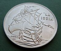 1994 Coin 1 Peso The India Sailing Ships Series Copper-nickel KM# 465