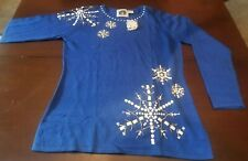 New with Tags: Storybook Knits Women's Sweater Evening Snow Tunic Size M