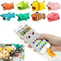 Cartoon Phone Charger Protector Soft Cord USB Cable Bite Cord Saver Cute Animal