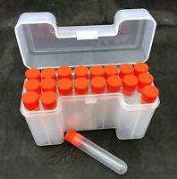 Ammo Box w/ 20  Blackhorn 209 Black Powder Charge Tubes + three extra tubes