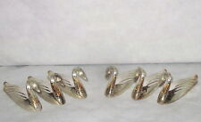 french Vintage set of 6 art deco swan silver plated knife rests