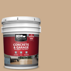 5 Gal. Epoxy Satin Concrete Paint Interior Exterior Garage Basement Floor Paint