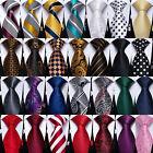 USA Men Silk Necktie Tie Paisley Striped Solid Pocket Square Cufflinks Wedding