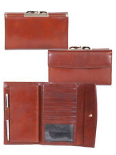 Scully 717 Cognac Italian Leather Framed Checkbook Wallet