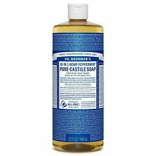 Dr Bonners Castile Soap Refill & Shampoo Peppermint Scent For Kids Too 32 oz.