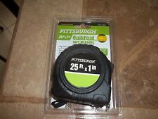 25 ft.x 1in. Tape Measure Pittsburgh QuikFind Standard, Inches/Feet