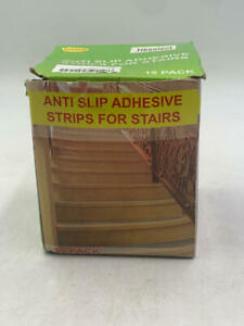 Non-Slip Stair Treads Tape (15-Pack) - Clear Anti-Slip Indoor Strips