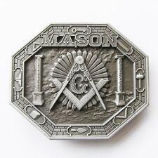 Original Masonic Free Mason Metal Belt Buckle