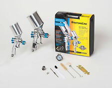 DEVILBISS Spray Paint Gun Kit 802342 HVLP 2 Guns w/regulator NEW!