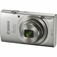 Canon PowerShot ELPH 180 20MP 8x Optical Zoom HD Video Silver Digital Camera