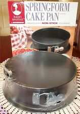 "Bakers Advantage Springform Pan Roshco 9"" Non Stick Commercial Quality New Box"