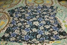 Misses Scrub Top Size Medium Multi Colored Floral Print