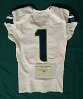 Seattle Seahawks Blank #1 Team Issued Player Worn Road Jersey wCOA - SA 09265