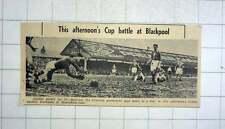 1951 Charlton Goalkeeper, Bartram, Saving Shot Cup Tie Bloomfield Road