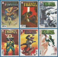THANOS #1 2 3 4 5 & 6 SET (1st PRINT) Gamora Black Order Marvel 2019 NM- NM