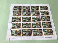 Liberia Arthur Szyk One Cent full mounted mint  stamps sheet  Ref 52220