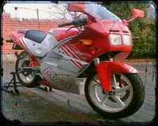 GILERA MX 1 125 89 2 A4 Foto Impresión moto antigua añejada De