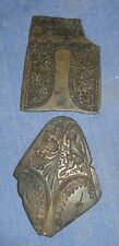 VINTAGE OLD COLLECTIBLE SWORD SCABBARD LOCKET & CHAPE BRONZE DYE