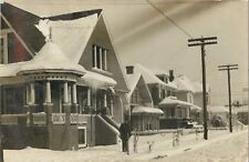 """""""Albany In The Snow, A Picture Of Chloe's House"""", Albany, Oregon OR RPPC 1909"""