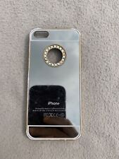 Case Phone Cover Iphone 5 5S Gold Silver Jewels Rigid Plastic Used Apple Mirror