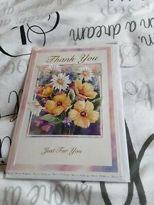 Thankyou Greeting Card BNIP - flowers