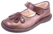DE OSU 5Z7411 -Girls Brown Metallic Leather European Dress/Casual Shoes -Sz 10-2