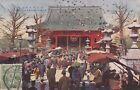 Tokyo Tokio 東京 RPPC 1919 Asakusa Kwaon Temple Japan Nippon 1709236