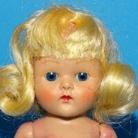 Vintage Vogue  Blond Painted Lash Strung Ginny Doll Straight Leg Cheek Color
