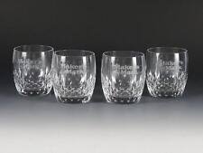 "4 Mikasa Crystal Old Fashioned / Highball ""Maker'S Mark"" Bourbon Glasses"