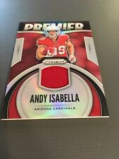 Andy Isabella Cardinals 2019 Panini Prizm Rookie Premier Patch Jersey Prizm Rc!