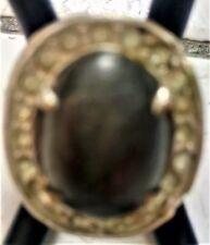 Natural Yemen Agate (Akik/Aqeeq) Rhodium Ring (Indonesia)