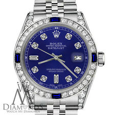Rolex 26mm Datejust Blue Color Dial with Sapphire & Diamond Bezel Accent Watch