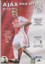 Programma / Programme Ajax Amsterdam v Vitesse Arnhem 03-11-2012