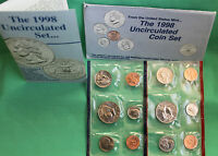 1998 P and D ANNUAL US Mint Uncirculated 10 Coin Set BU