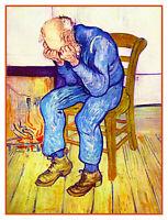 Despair Eternities Gate by Impressionist Van Gogh Counted Cross Stitch Pattern