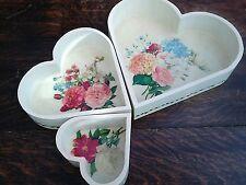Decoupage trays, shabby chic heart shape, Valentine gifts, decorative, handmade