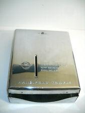 Vintage Stainless Metal Fort Howard Handfold Paper Towel Dispenser Gas Station