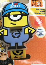 Despicable Me 3 Minions Watch I love Gru Flashing Lights LCD Kids
