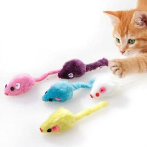 20 Plush Mice with Catnip and Rattle Sound Made of Real Rabbit Cat Toy Mouse