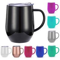 Stainless Steel Insulated Tumbler 12oz Double Wall Vacuum Travel Mug Coffee Cup
