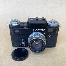 Contax Vintage Rangefinder Black Camera RUSSIAN KIEV COPY - W/ 5sm F2 - NICE