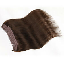 HAIR EXTENSION HIDDEN HALO INVISIBLE WIRE WEFT 100% REMY HUMAN FULL HEAD TAPE